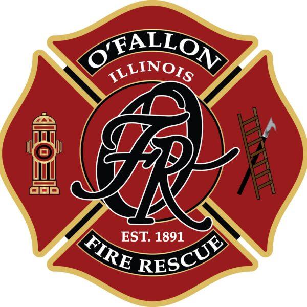 O'Fallon, Illinois Fire Rescue red logo