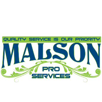 Navy blue and green Malson Pro Services logo