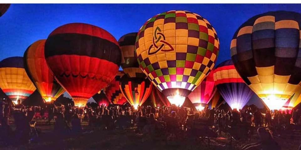 Hot air balloons at the annual hot air balloon race