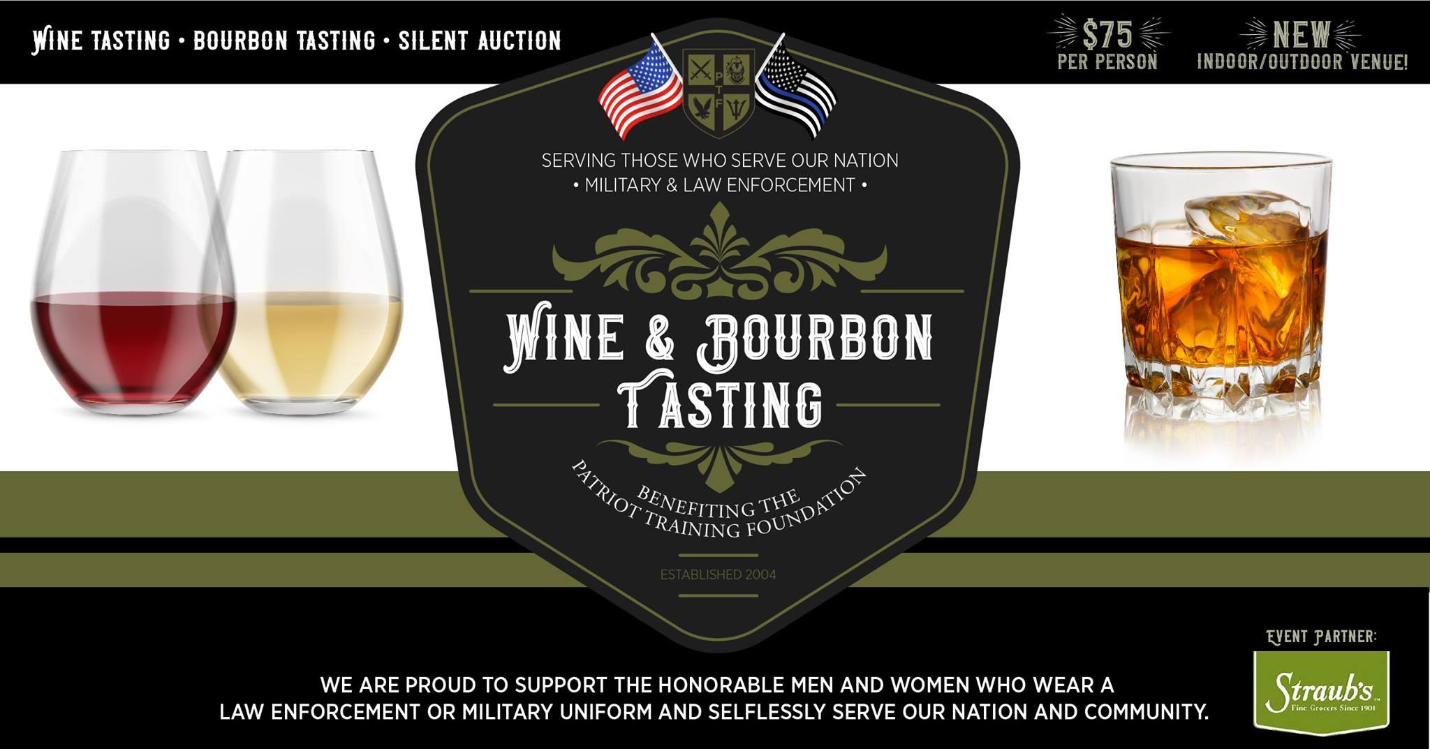 Flyer for the Wine & Bourbon Tasting
