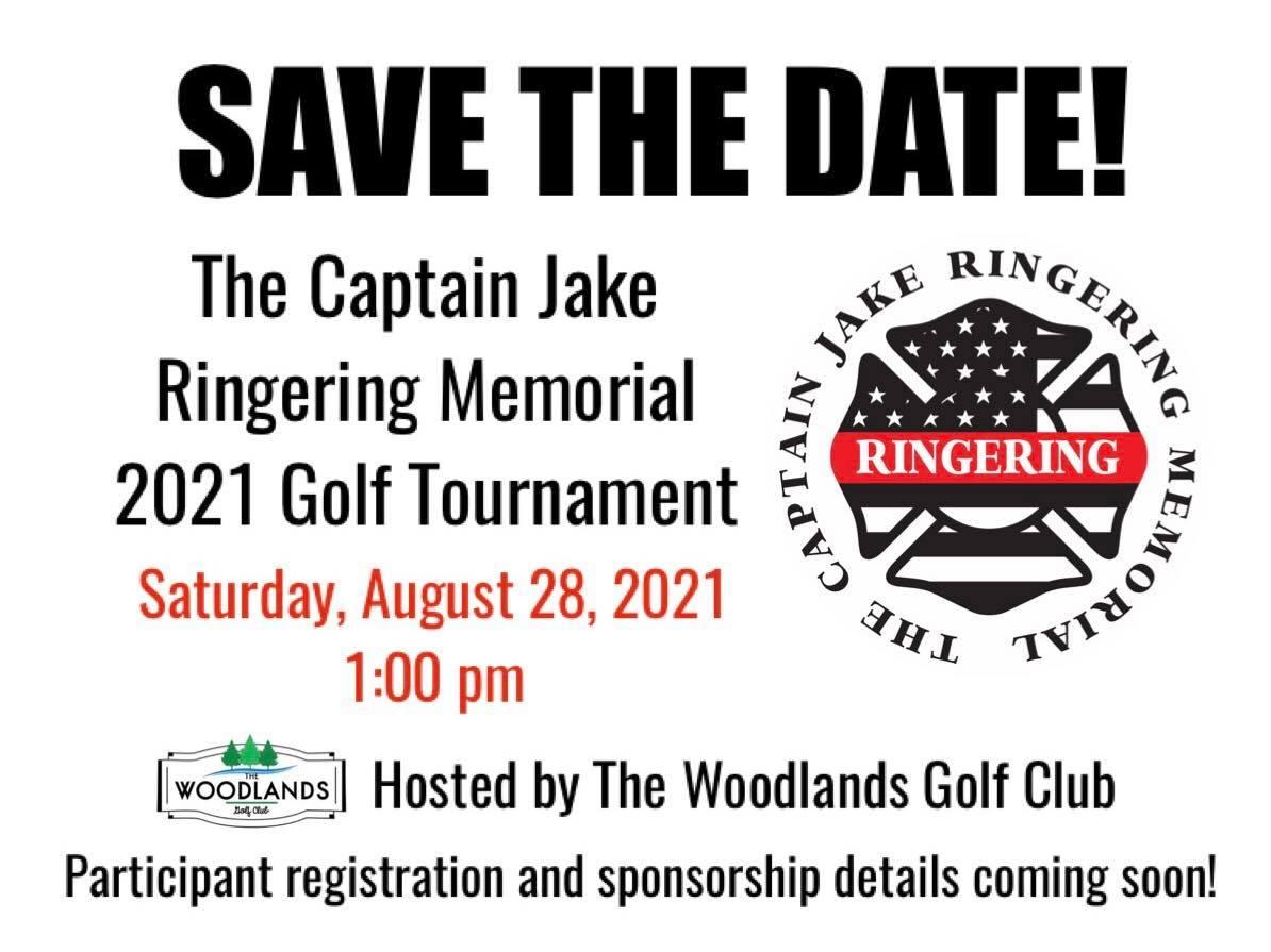 Flyer for The Capitan Jake Ringering Memorial 2021 Golf Tournament