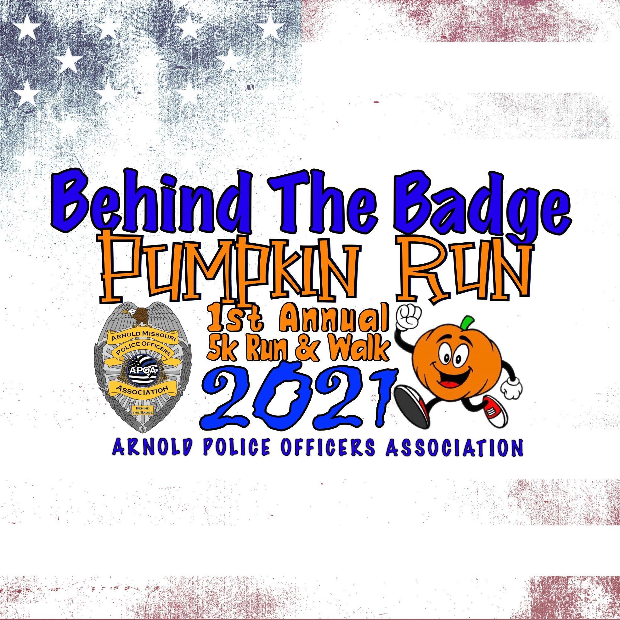 Behind the Badge Pumpkin Run 2021 Flyer