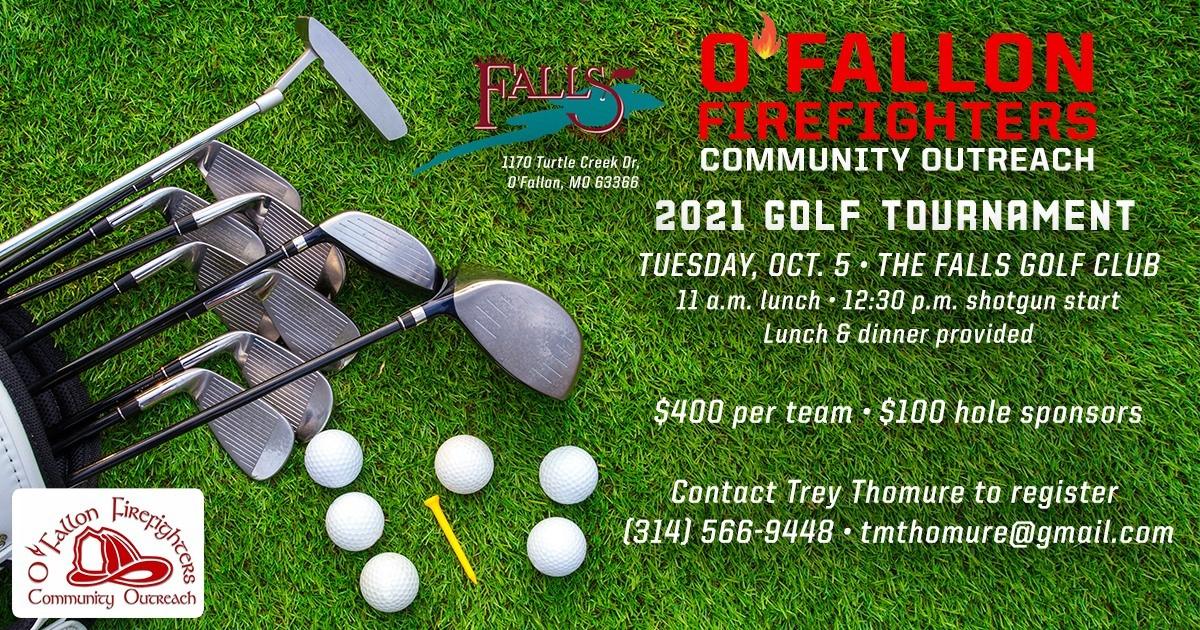 O'Fallon Firefighters Golf Tournament Flyer